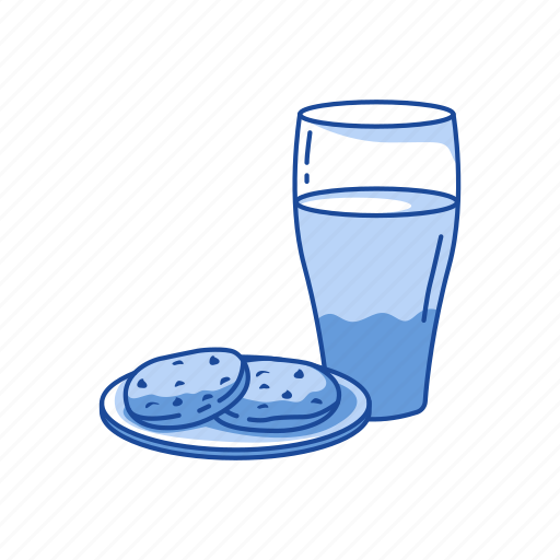breakfast, cookies, cookies & milk, milk icon