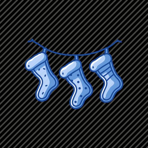 christmas socks, socks, stocking, stockings icon