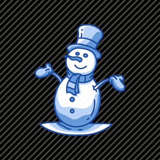 christmas, snow, snow man, winter icon