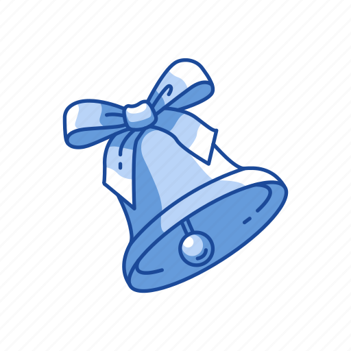 bell, christmas, decoration, ribbon icon