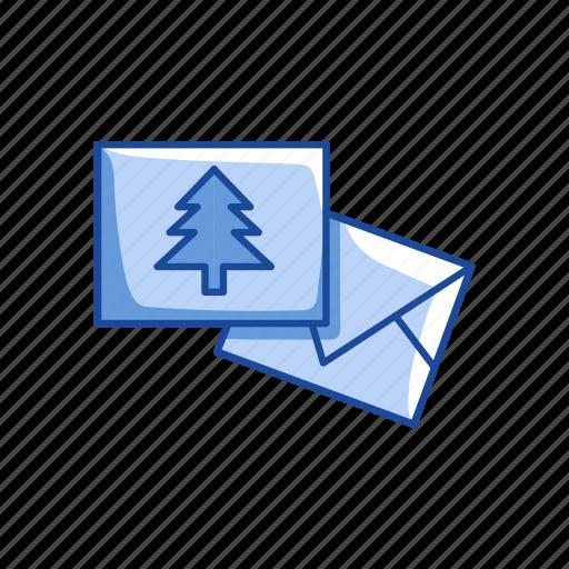 card, christmas, christmas card, letter icon
