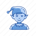 boy, christmas, christmas elf, elf icon