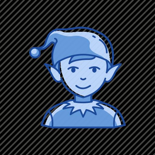 boy, christmas, christmas elf, elf icon