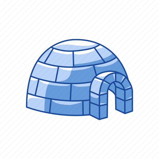 ice house, iglo, shelter, snow fort icon