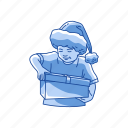 gifts, kid, present, santa hat icon