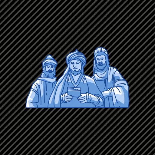 biblical magi, christmas, kings, three kings icon