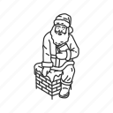 chimney, christmas, fireplace, gifts, holiday, santa, santa claus icon