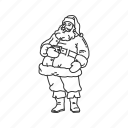christmas, father christmas, full santa claus, gifts, happy, santa, santa claus icon