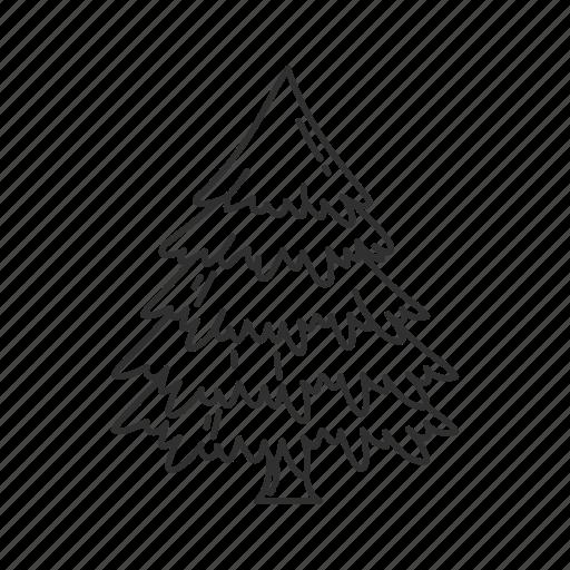 christmas, christmas tree, decoration, holiday, plain christmas tree, tree, yule tree icon