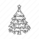 christmas lights, christmas tree, decorations, holiday, lights, tree, yule tree icon
