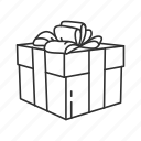 boxes, christmas box, gifts, holiday, present, ribbon, season of giving icon