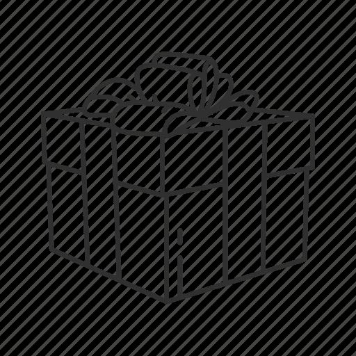 boxes, christmas box, gifts, holiday, present, ribbon, season of giving icon
