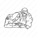baby jesus, christmas, holiday, jesus, mary and joseph, season icon