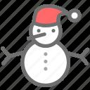 christmas, claus, santa, snow, snowman, xmas