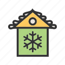 christmas decoration, christmas house, decoration, house, party, xmas icon