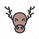 christmas decoration, decoration, hornes, moose, portrait, xmas icon