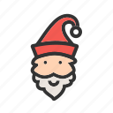 christmas hat, decoration, hat, merry christmas, santa, santa claus, winter icon