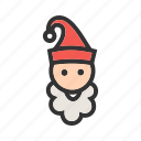 cap, christmas, elf, hat, santa, santa claus, xmas icon
