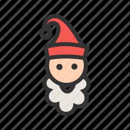 cap, christmas, elf, hat, santa, santa claus, xmas icon