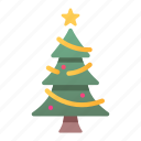 christmas, decoration, merry, light, tree, star