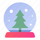 marble, present, crystal, snow, tree, christmas, gift