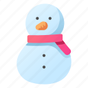 ice, scarf, snow, snowball, snowman icon