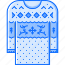 christmas, clothes, holiday, new, pullover, winter, year icon