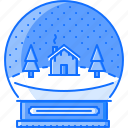 ball, christmas, house, new, snow, tree, year icon