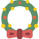 christmas, wreath, xmas icon