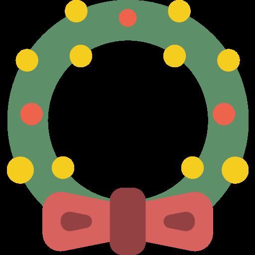 christmas, wreath, xmas icon