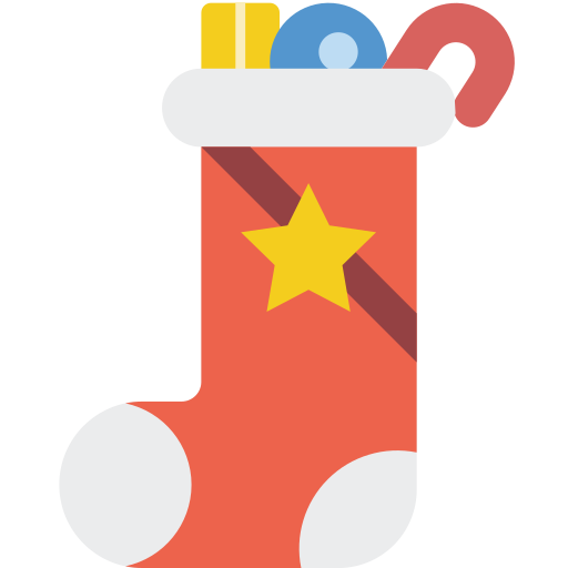 christmas, stocking, xmas icon