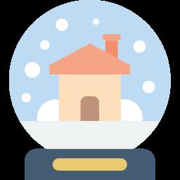 christmas, globe, snow, xmas icon