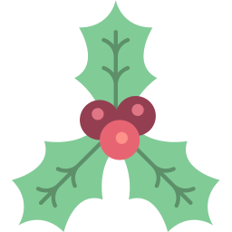 christmas, holly, xmas icon