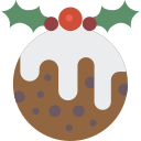 christmas, pudding, xmas icon