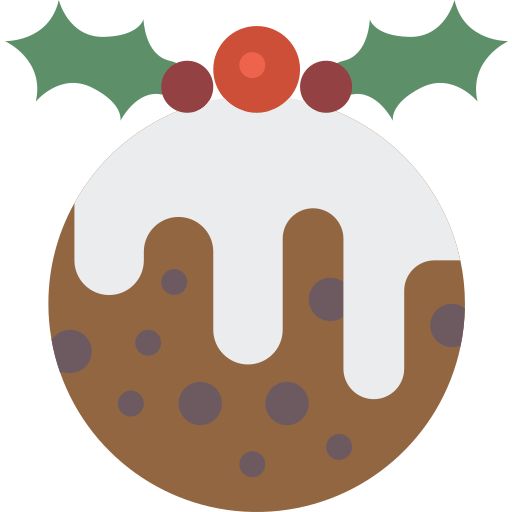 christmas, pudding, xmas icon