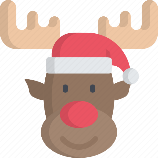 character, christmas, december, holidays, reindeer icon