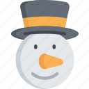 character, christmas, december, holidays, snowman icon