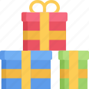 christmas, december, gift, holidays, presents icon