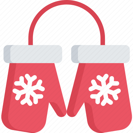 christmas, clothing, december, holidays, mittens icon