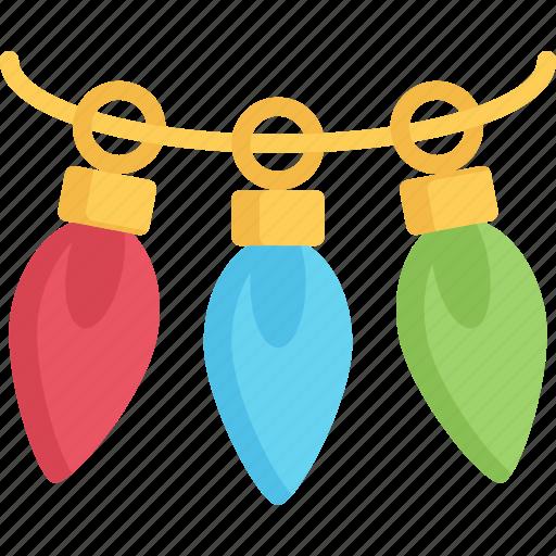 bulbs, christmas, december, holidays, light icon