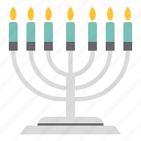 candlestick, christmas, decoration, party icon