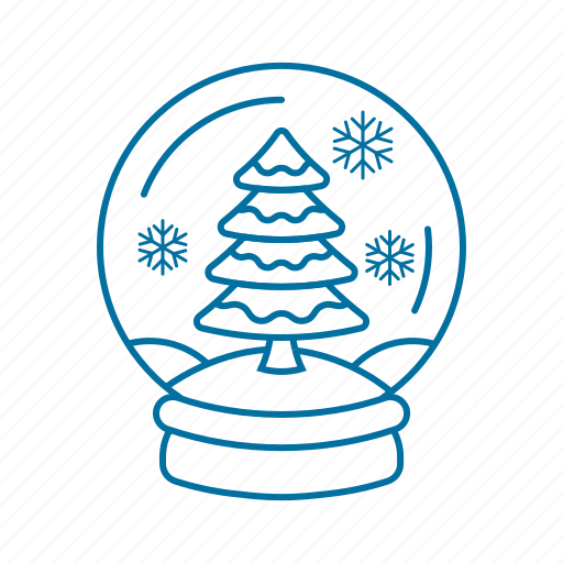 accessories, christmas, globe, snow, snowball, winter icon