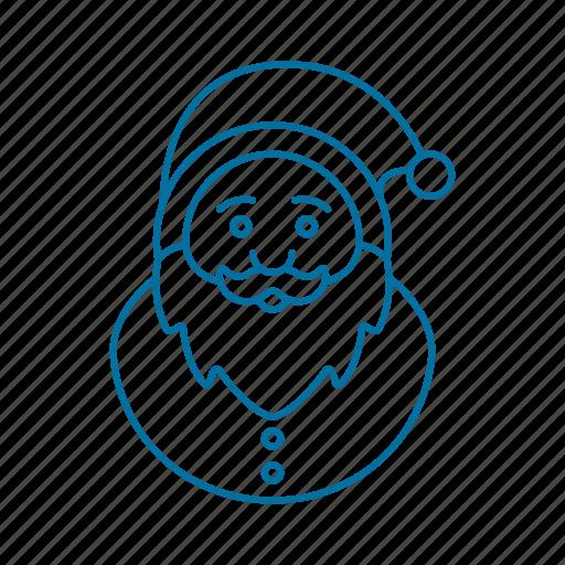 christmas, holiday, holidays, santa, winter, xmas icon icon