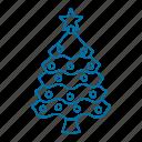 christmas, christmas tree, ornament, pine, star, tree icon icon