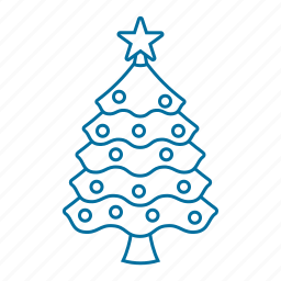 christmas, christmas tree, ornament, pine, star, tree icon icon