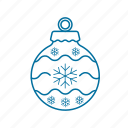 bauble, celebration, christmas, christmas tree, decoration icon