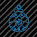 bauble, celebration, christmas, christmas tree, decoration icon