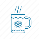 christmas, cocoa, drink, hot, sweet, winter icon