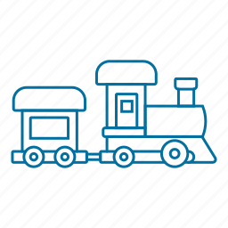 christmas, gift, holiday, present, toy, train icon