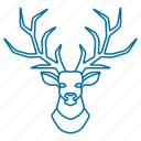 animal, christmas, deer, male, winter icon